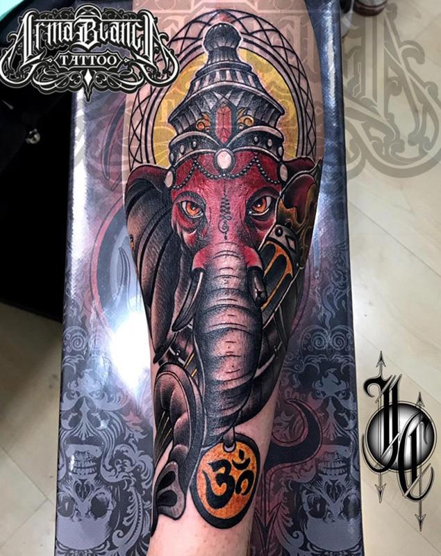 tatuaje diosa color