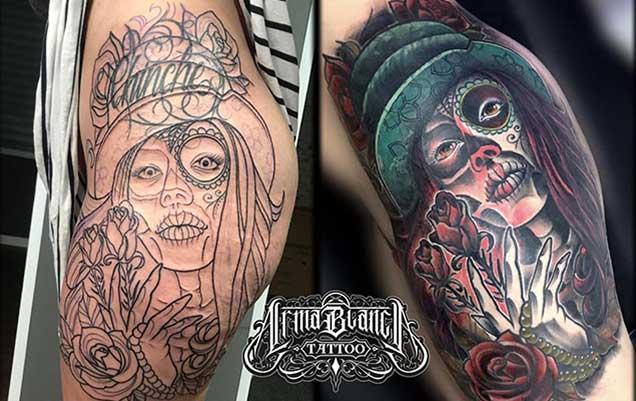 Tatuajes asequibles en madrid barrio Las rosas